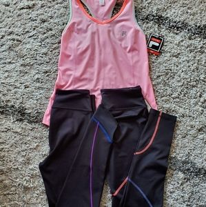 NWT Lot Of XS Fila Sport Leggings And Tank Top